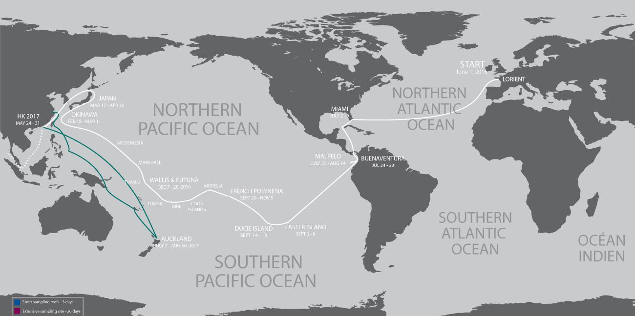 Tara Expedition Map