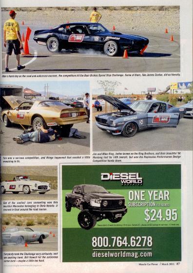 SEMA Optima Challenge 1980 Trans Am 1973 Pontiac TA Baer YearOne Custom Restorations Bandit Mike Lavallee Killer Paint