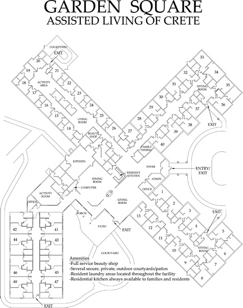 free home plans square garden floor plans