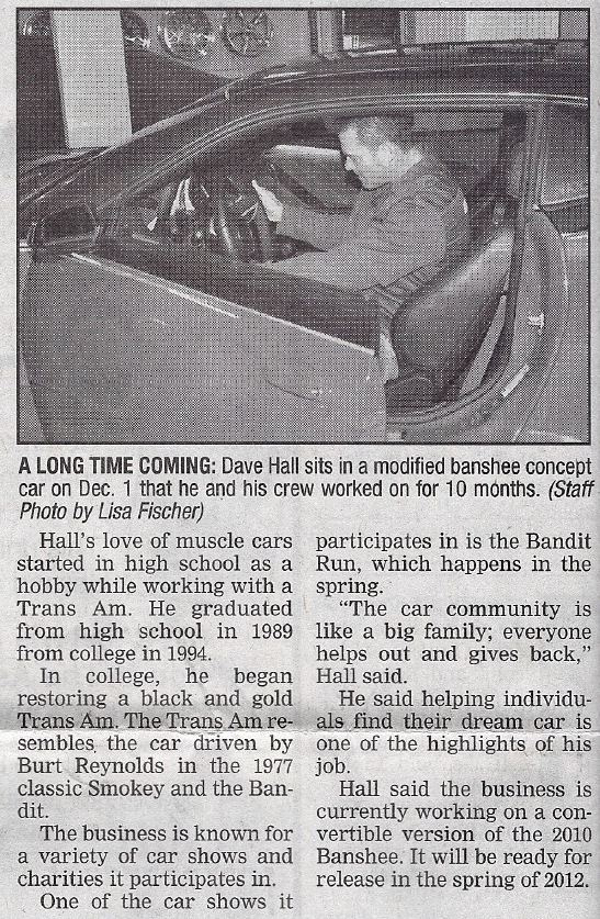 Banshee TA Restore a Muscle Car Nebraska Auto Restoration